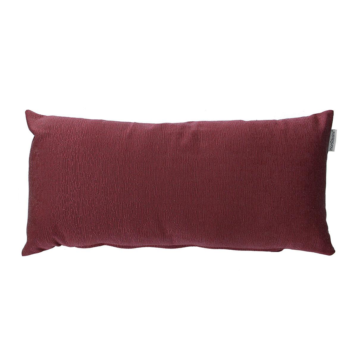 cuscino rettangolare ottoman bordeaux