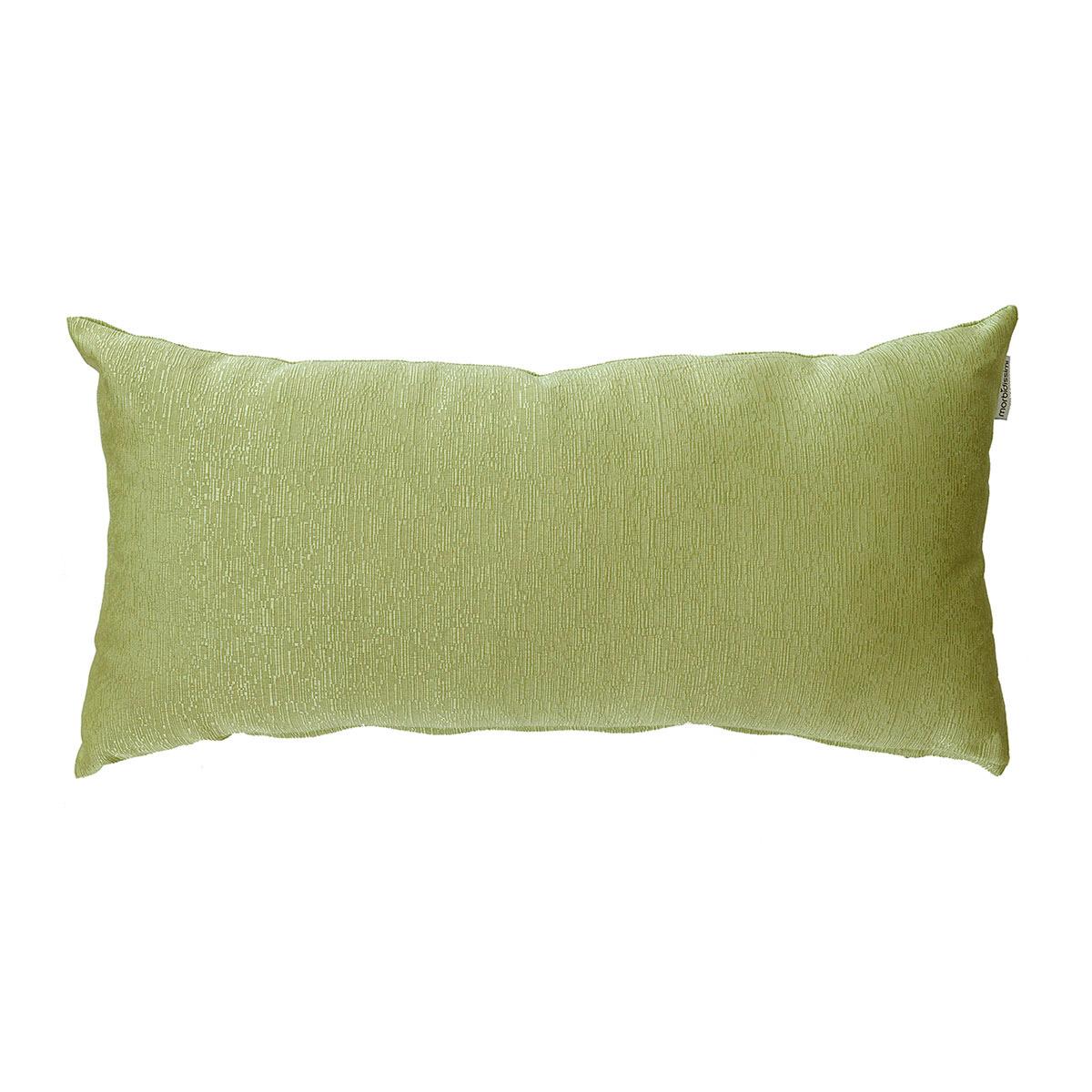 cuscino rettangolare ottoman verde chiaro